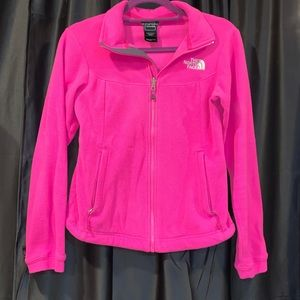 North Face Pink Zip Up Jacket